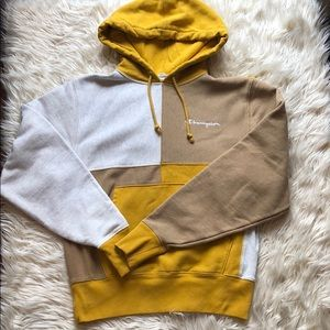 Champion color blocked pullover hoodie 💛🧡